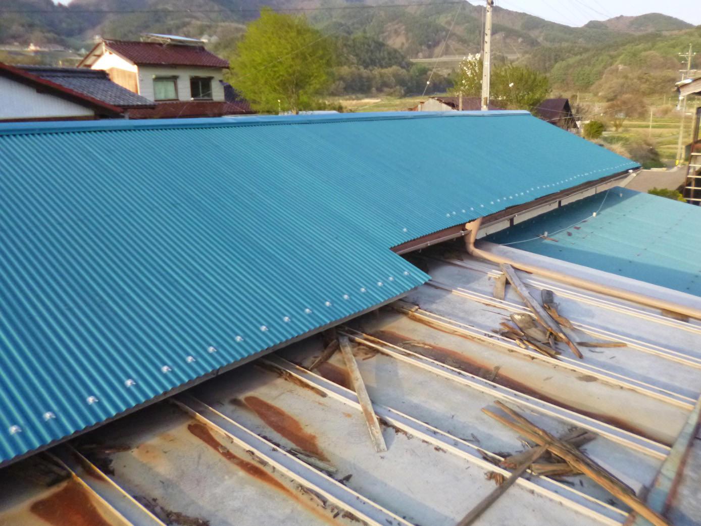 トタン屋根修理完了